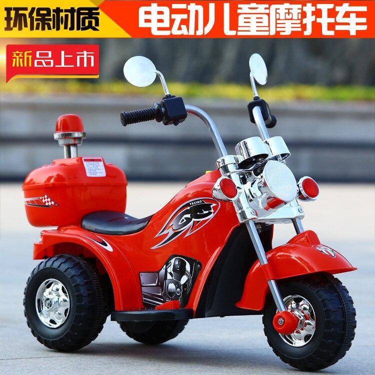 Tricycle électrique pour enfants moto tout-terrain voiture de charge bébé trois roues vélo vélo tour sur les voitures pour les enfants