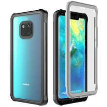 Mate20 Pro Kristall Fall Für Huawei Mate 20 Pro Fall Clear Rückseite 360 Schutz für Huawei Mate 20Pro Abdeckung funda Stoßfest