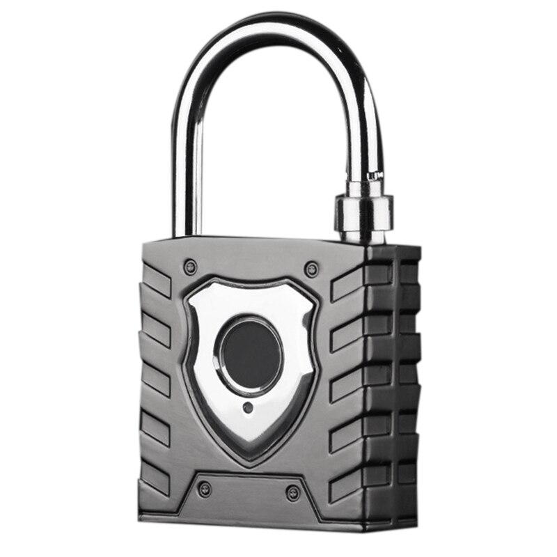 Smart Fingerprint Padlock Large Outdoor Waterproof Lock Warehouse Door Home Security Password Lock