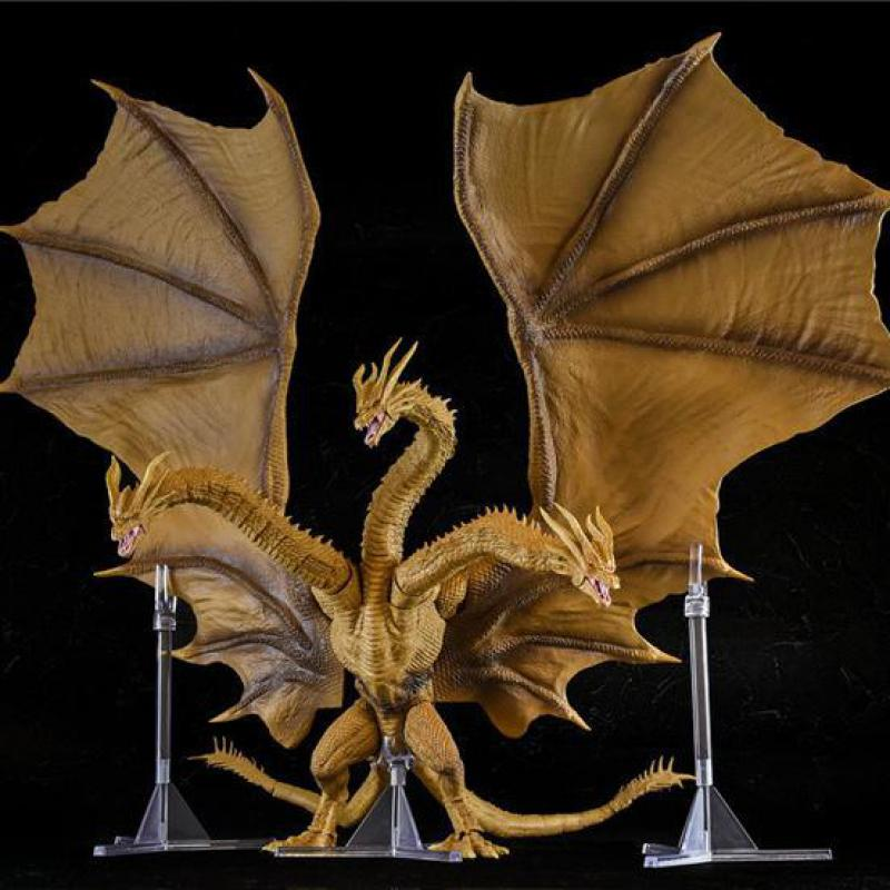 30cm Godzilla: King Of The Monsters Three Headed Dragon King Ghidorah Action Figure Super Movable Joints Pvc Figurine Decoration