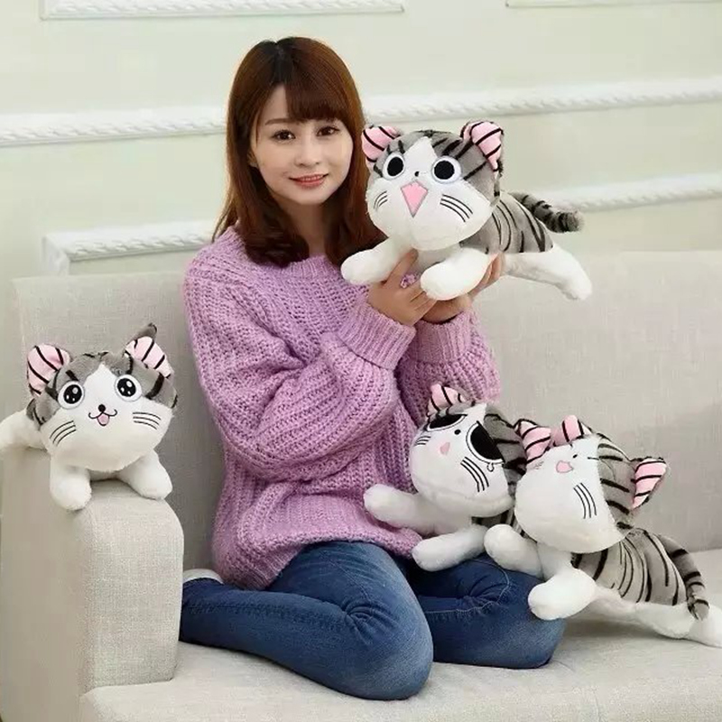 20/30cm Cat Plush Toys Chi Chi's Cat Stuffed Doll Soft Animal Dolls Cheese Cat Stuffed Toys Dolls Pillow For Kids Girl Gifts
