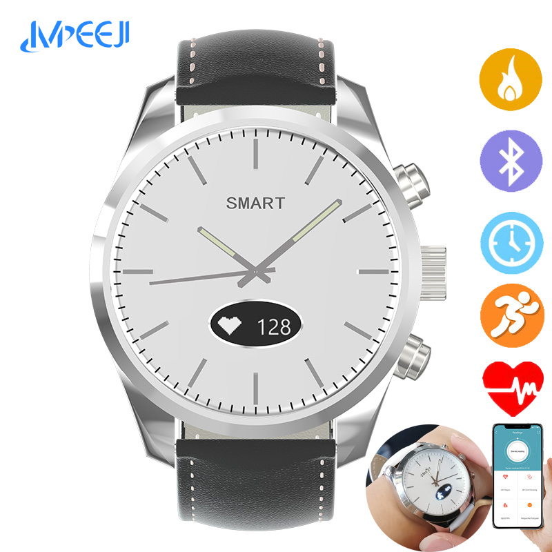 Sports IP68 Hybrid Smart Watch Quartz Smartwatch Fitness tracker heart rate monitor blood pressure for ios Android apple iPhone