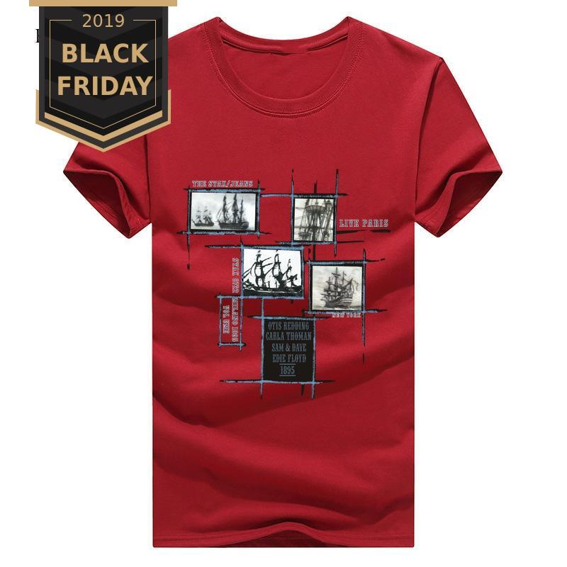 2019 Casual Men's T-Shirts Summer Short Sleeve Men T Shirts Plus 5XL Tee Shirt Homme Male TShirts Camiseta Tshirt Homme TX134