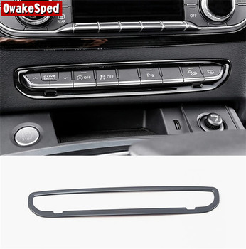 For Audi Q5 FY 2018 2019 Stainless Steel Interior Accessories Center Console Button Frame Decoration Decals Car Styling image