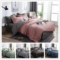 US AU Selimut Penutup Set 2/3 Pcs Tempat Tidur Linen Keke Blue Microfiber Hijau Pink Bedcloth DROP Shipping Grosir hotel Set Tempat Tidur Padat