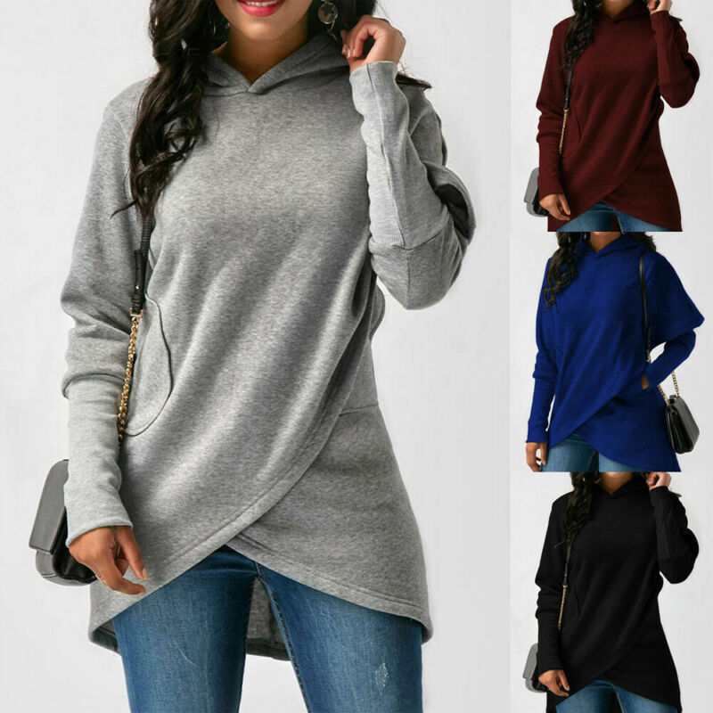 Womens Hooded Sweatshirt Hoodies Dress Long Sleeve Pullover Jumper Tops Sexy Girl Autumn Winter Casual Party Long Sleeve