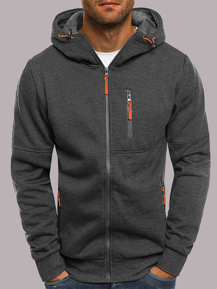 Covrlge Mens Clothing Coats Jackets Sweatshirts Tracksuit Hooded Zipper Casual Outerwear