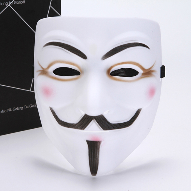 Party cos Masks V for Vendetta adult Mask Anonymous Guy Fawkes  Halloween Masks Adult Accessory Party Cosplay 4