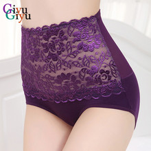 1Pc Women Briefs Sexy Flower High Waist Body Shaper Panties Comfortable And Soft Underwear Cheap Ladies Cotton