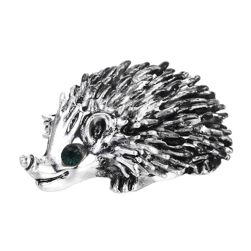 1PCS Cute Hedgehog Animal Brooch Pins Jewelry Pin Brooch Wedding Bridal Bouquet Men's Suit Jewelry Accessories Women Jewelry