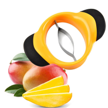 1pc Stainless Steel Mango Cut Creative Kitchen Mango Splitter Fruit Kitchen Gadget Accessories Peach Slicer Cutter брюки mango man mango man he002emfmpg3