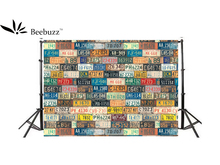Beebuzz photo backdrop personalized license plate background wall