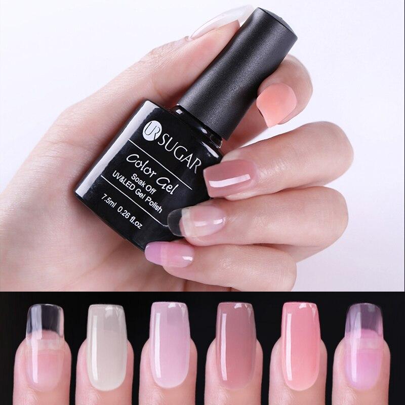 Цветной УФ-гель UR SUGAR для наращивания ногтей, УФ-гель для наращивания ногтей, долговечные художественные инструменты для ногтей