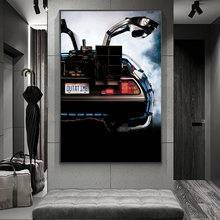 Movies Back to the Future Delorean Time Machine Car Canvas Posters and Prints Art Paintings on the Wall Pictures Home Decor