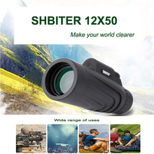 SHBITER 12X50 Powerful Monoculars Binoculars Zoom Field Glasses Great Handheld T