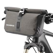 ROCKBROS Waterproof Large Capacity 20 L MTB Road Handlebar Bike Bicycle Bag 2 in 1 Set Front Pouch Pannier Accessories
