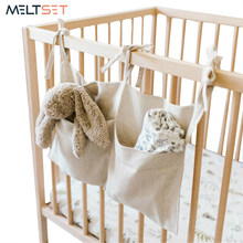 Sac de rangement de chevet de lit, organisateur de berceau de bébé, sac suspendu pour lit superposé de dortoir, Rails de lit d'hôpital, livre de jouets, couches, poches porte-lit