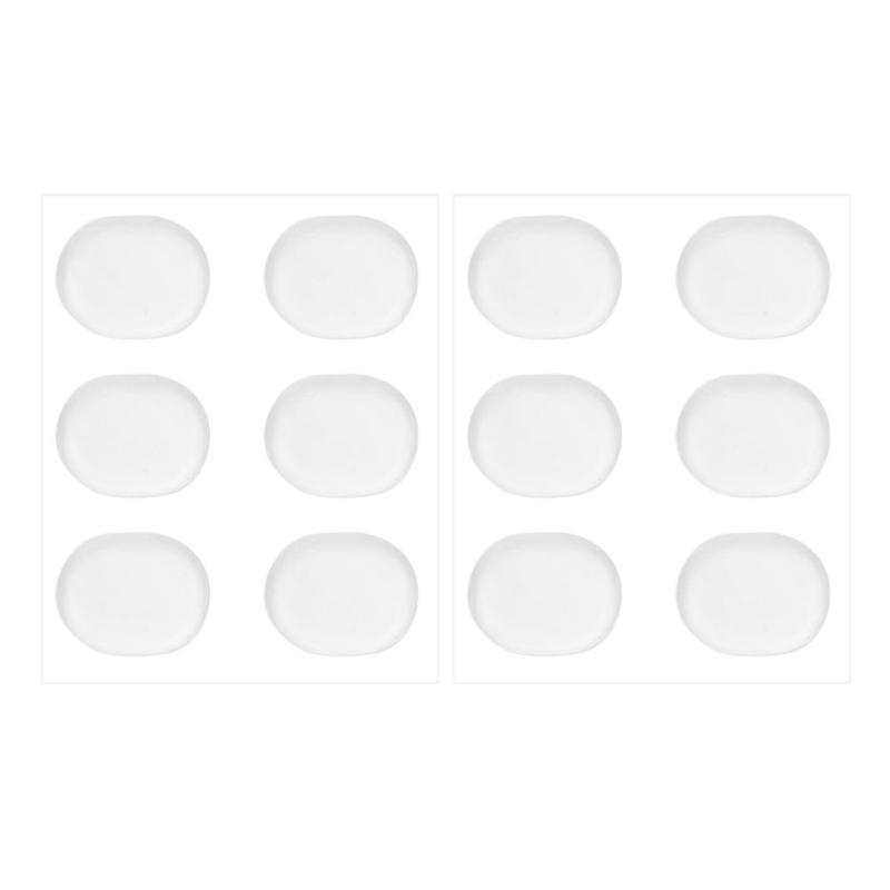 12Pcs Snare Drum Mute Pads Silicon Gel Drum Damper Mufflers Percussion Instrument Accessories