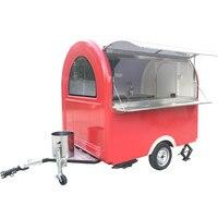 New design 230cm long food trailer food kiosk mobile food cart food van trailer for sale