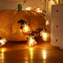 Halloween LED Light String Ghost Pumpkin Bat Decorative Lanterns Ins Decoration