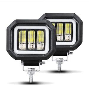 Image 2 - 6D Lens 5 Inch Led Work Light 30W 12V 24V 6000K White Flood Beam For Motorcycle SUV Car 4x4 Truck Offroad Driving Lights