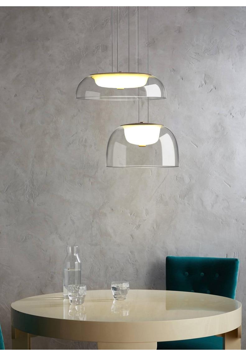 lâmpada pingente criativo quarto café luz suspensão
