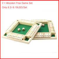 Juego de mesa de madera con dados para niños y adultos, juego de diversión familiar para padres e hijos, 4 lados, 10 números, 2 uds.