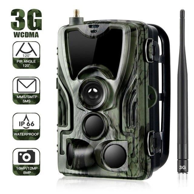 HC801G 3G caméra de piste de chasse MMS 0.3S déclencheur 16MP 1080P Infrare caméra de sentier en plein air étanche faune Photo pièges cames