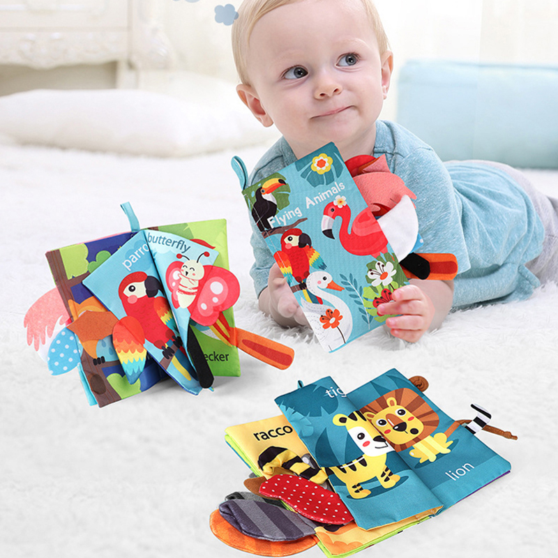Baby Toys 0 12 Months Cloth Book Soft Early Learning Aid Educational Newborn Infant Cognize Reading Language Child Toys For Kids