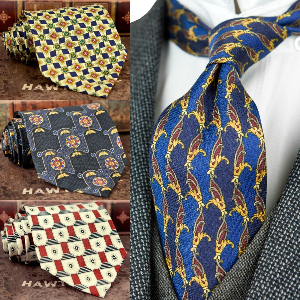 Classic Pinted Geometric Floral Paisley Checked Multicolor Mens Ties Neckties 100% Silk Printing Free Shipping Unique Handmade