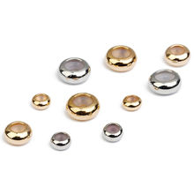 20pcs Rondelle 6mm/ 8mm/ 10mm Copper Metal & Silicone Loose Plug Lock Stopper Spacer Beads Lot for Jewelry Making