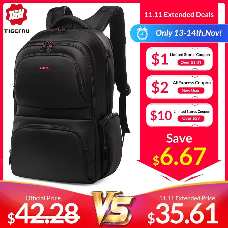Tigernu Anti Theft 15.6 Waterproof Nylon Men's Backpacks Women Backpack Schoolbag For 15