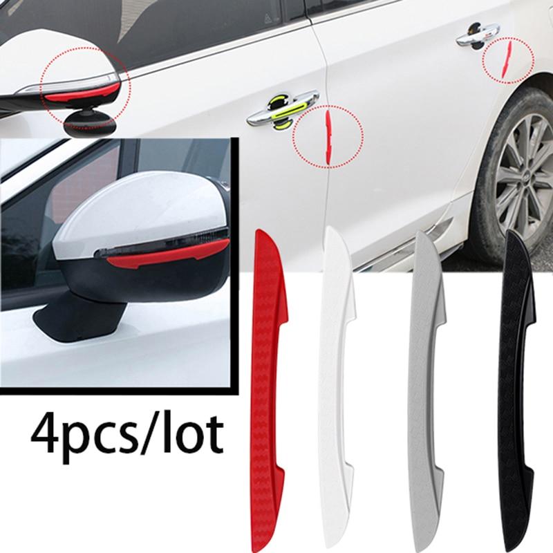 4PCS Car Door Anti-collision Bumper Strip Guards Side Protector Sticker for VW Renault Honda Opel Audi Nissan Mitsubishi Toyota
