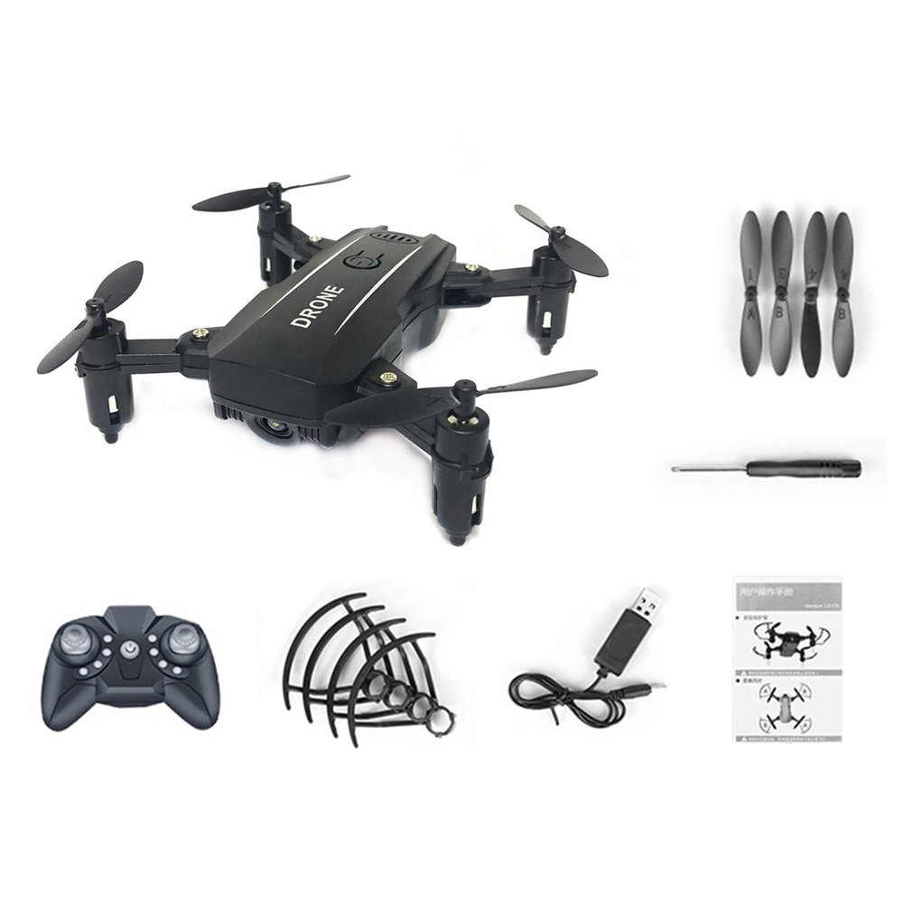 Foldable M9 Mini RC 2.4G Quadcopter Drone Aircraft with Altitude Hold One Take-off Headless Mode 3D Flips for Children Gift