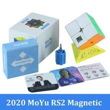 2020 MoYu RS2 M manyetik 2x2x2 sihirli hız küp 2x2 Magico Cubo RS2M RS3M RS4M manyetik küp bulmaca oyuncaklar çocuklar için