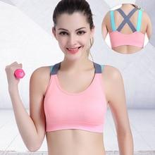 Sexy Sports Bra Top for Fitness Women Push Up Cross Straps Yoga Running Gym Femm