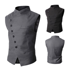 ZOGAA Men Waistcoat New Mens Vest Fashion Brand High Quality Black Gray Formal Business Fit Suits & Blazer for