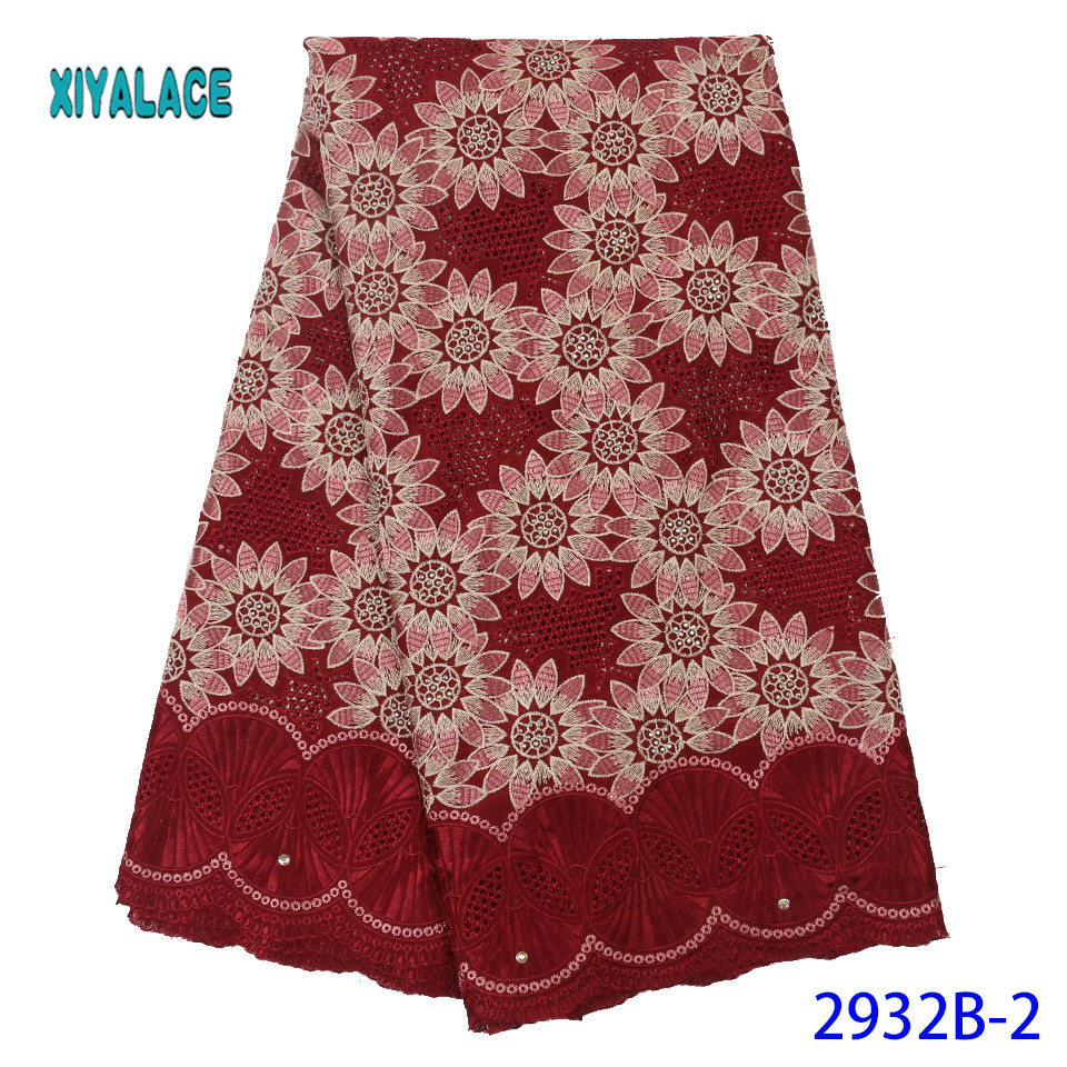 Hot Sale Swiss Voile Lace Fabric High Quality 2019 African Net Laces Fabrics Nigerian Tulle With For Wedding YA2932B-2