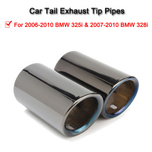 1 пара титановый черный автомобильный выхлопной системный Глушитель выхлопная труба наконечник для BMW E90 E92 325i 328i 2006-2010 авто аксессуары
