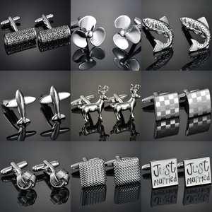 Cufflink Link-Button French-Shirt Wedding Designer High-Quality Mens Luxury Brand Gold