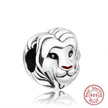 Fit Originale Pandora Braccialetto di Fascino 925 Sterling Silver Bead Il Re Leone Simba di Fascino Per Le Donne Animale FAI DA TE Argent Monili di regalo(China)