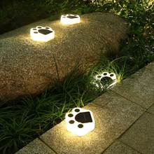 Led Outdoor Solar Lamps Waterproof Bear Paw Garden Path Patio Solar Power Light Pathway Lamps Yard Street Solar Lawn Lamp