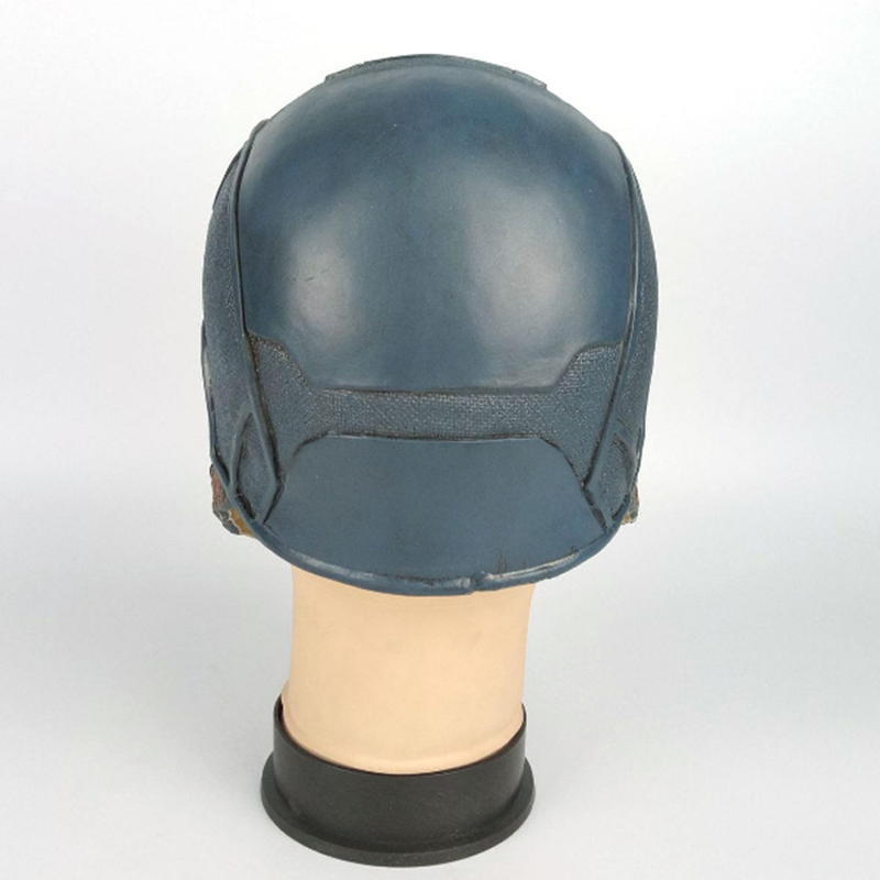 Image 2 - Captain America Cosplay Mask  Costume Party Helmet Props Civil War Halloween Soft Latex MaskerBoys Costume Accessories   -