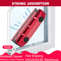 1PC Magnetic Windows Cleaner for Single Glazing Windows 3-10mm Portable Useful Glass Cleaning Tool with Cloth for Home Use