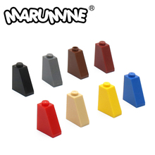 Bricks Building-Blocks MARUMINE with Bottom-Tube 100PCS Compatible 2x1x2-Slope-Tile 65