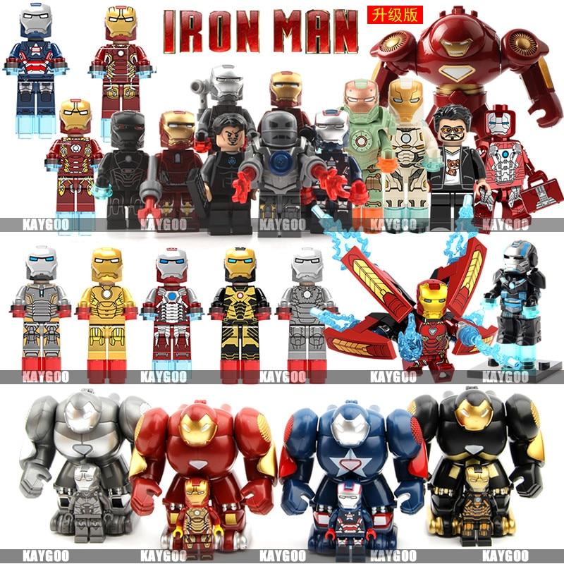 Single Sale Avengers Super Hero  Iron Man MK50 Compatible Legoingly Figures Building Blocks Bricks Set Model Toys For Children