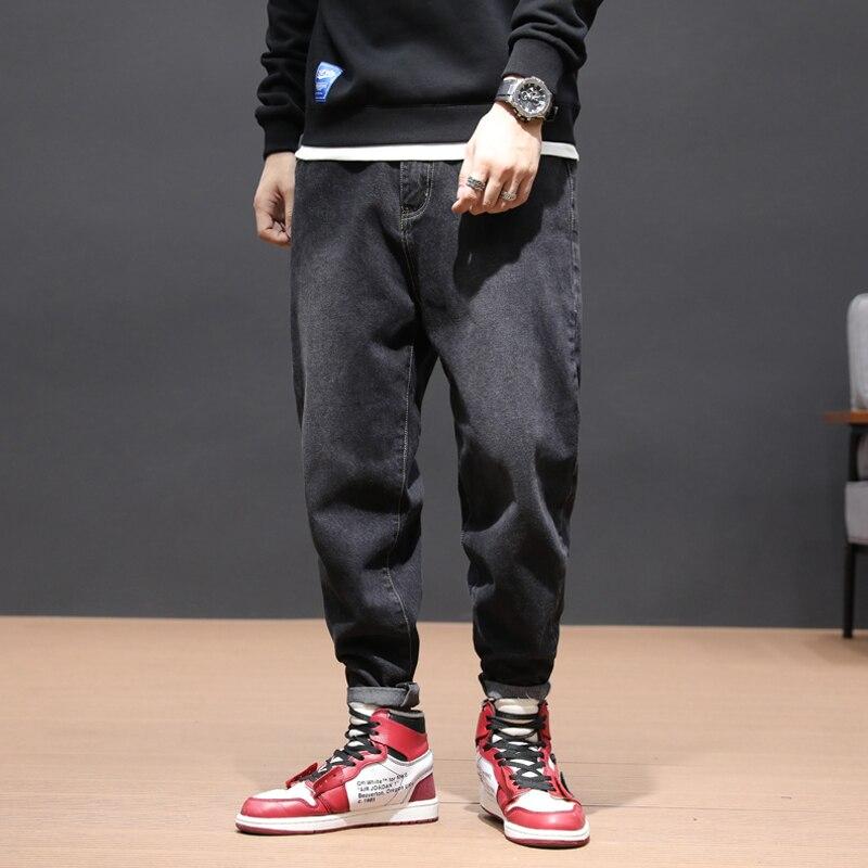 Japanese Style Vintage Men Jeans Retro Designer Denim Harem Pants Hombre Big Size 28-42 Streetwear Fashion Hip Hop Jeans Men