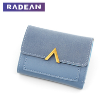 RADEAN Short Women Wallets Matte Leather Hasp Small Wallet PU Luxury Brand Famous Mini Female Fashion