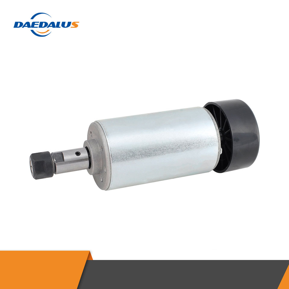 CNC Spindle Motor 300W DC Machine Tool Spindle ER11 Milling Motor Air Cooled Router Tools With 10pcs 3.175MM Milling Cutters
