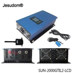 2 кВт MPPT Сетка tie Inverte микро Солнечный преобразователь Регулятор инвертор с ограничителем датчик 45-90VDC к AC 220-240V для солнечной панели